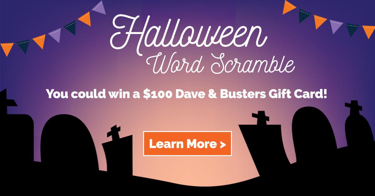 Halloween Word Scramble Greater Houston Orthodontics Houston TX